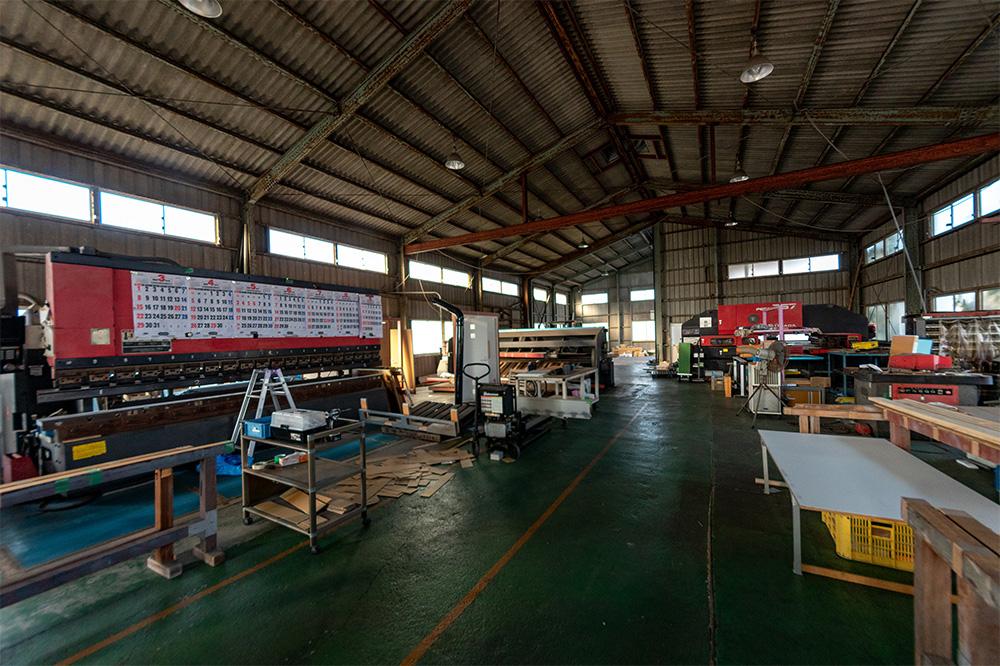 金属加工の工場